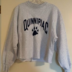 Champion cropped Quinnipiac sweatshirt